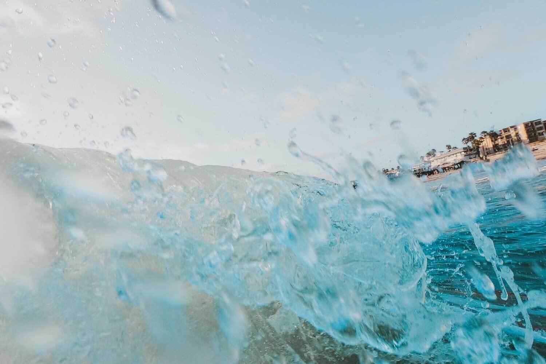 Crashing waves on California coastline
