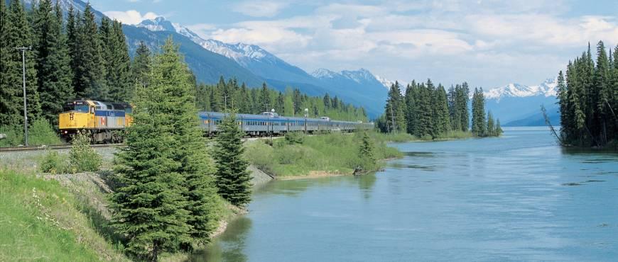Montañas Rocosas en Tren