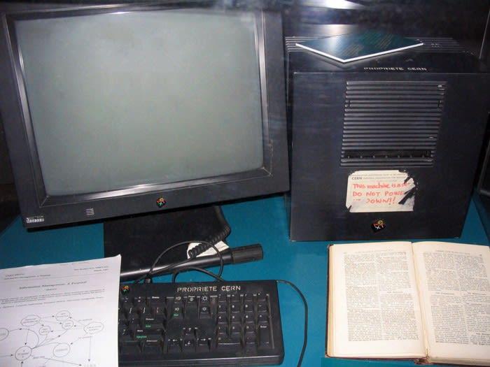 NeXT Computer used by Tim Berners-Lee at CERN