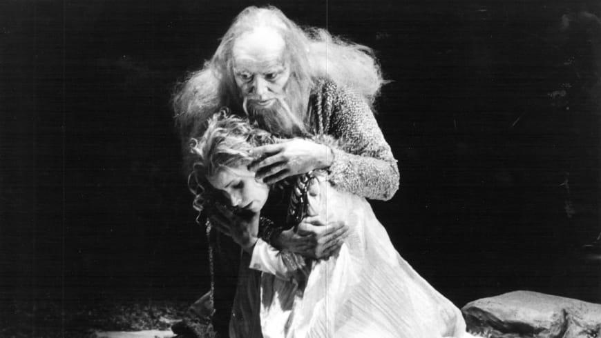 Dietrich Fischer-Dieskau et Julia Varady lors de la création de « Lear » à Munich, 1978