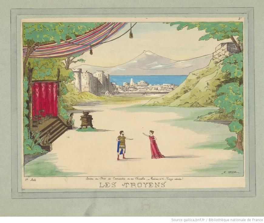 Les Troyens, Acte I, scène du duo de Cassandre et de Chorèbe / A. Casse