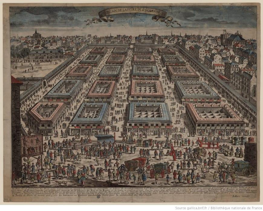Plan de la Foire de Saint-Germain.