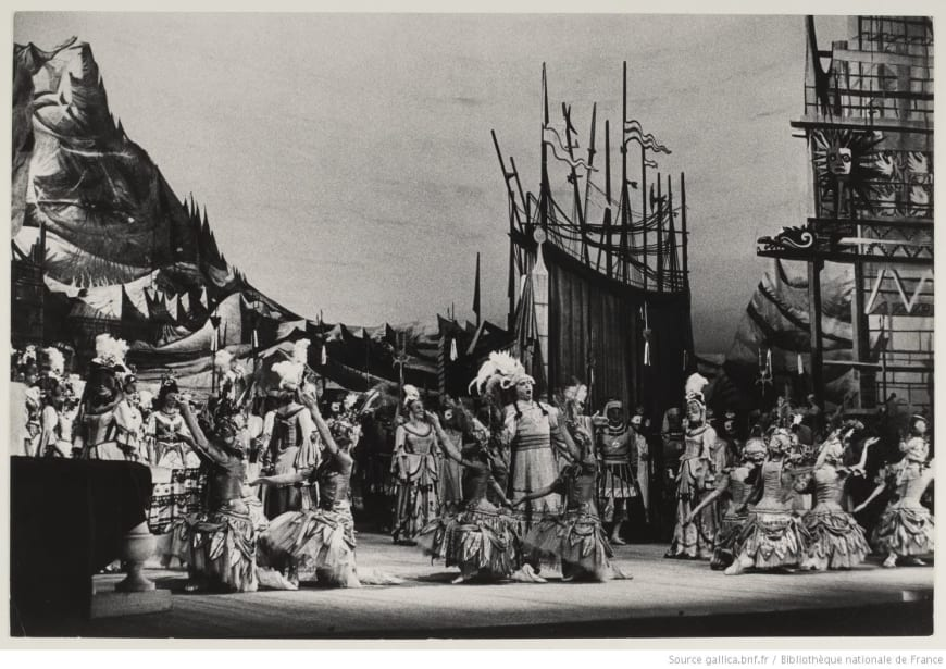 Les Indes galantes lors de la reprise de la production de 1952, Opéra de Paris, 1961