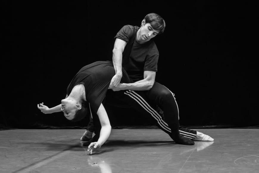 Marc Moreau et Juliette Hilaire en répétition, Palais Garnier, 2019