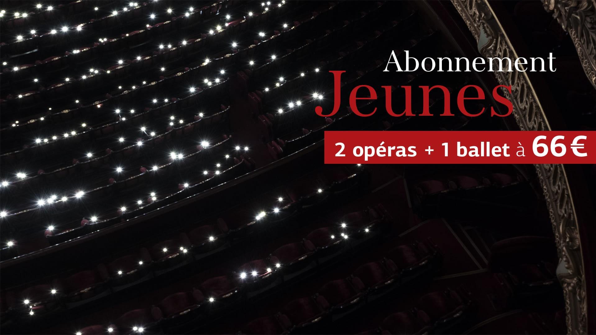 Formule 2 opéras + 1 ballet à 66 €