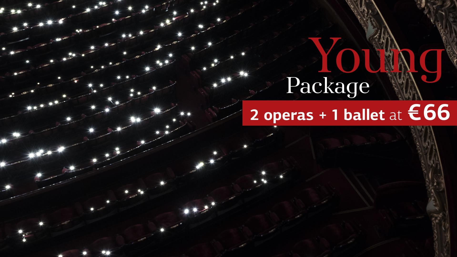 2 operas + 1 ballet for €66