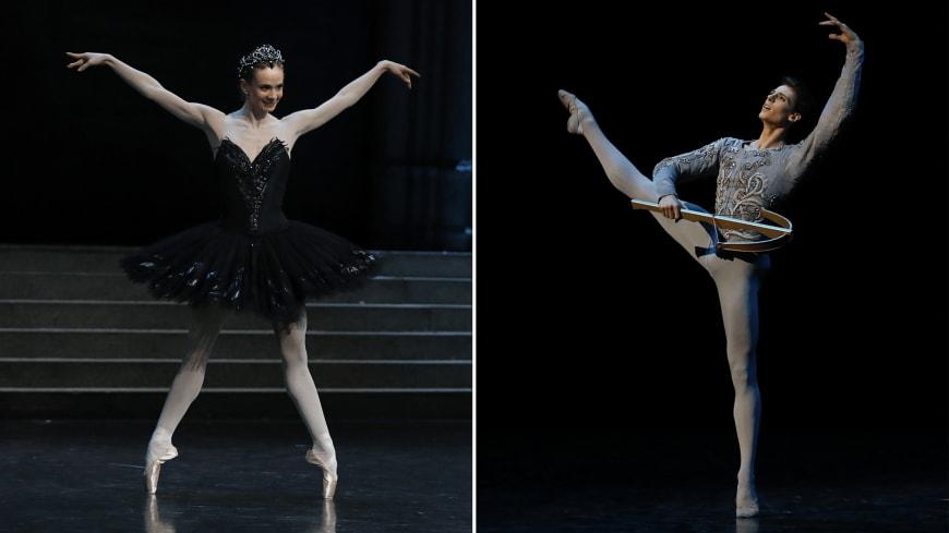 Léonore Baulac et Germain Louvet dans Le Lac des cygnes, Opéra Bastille, 2016