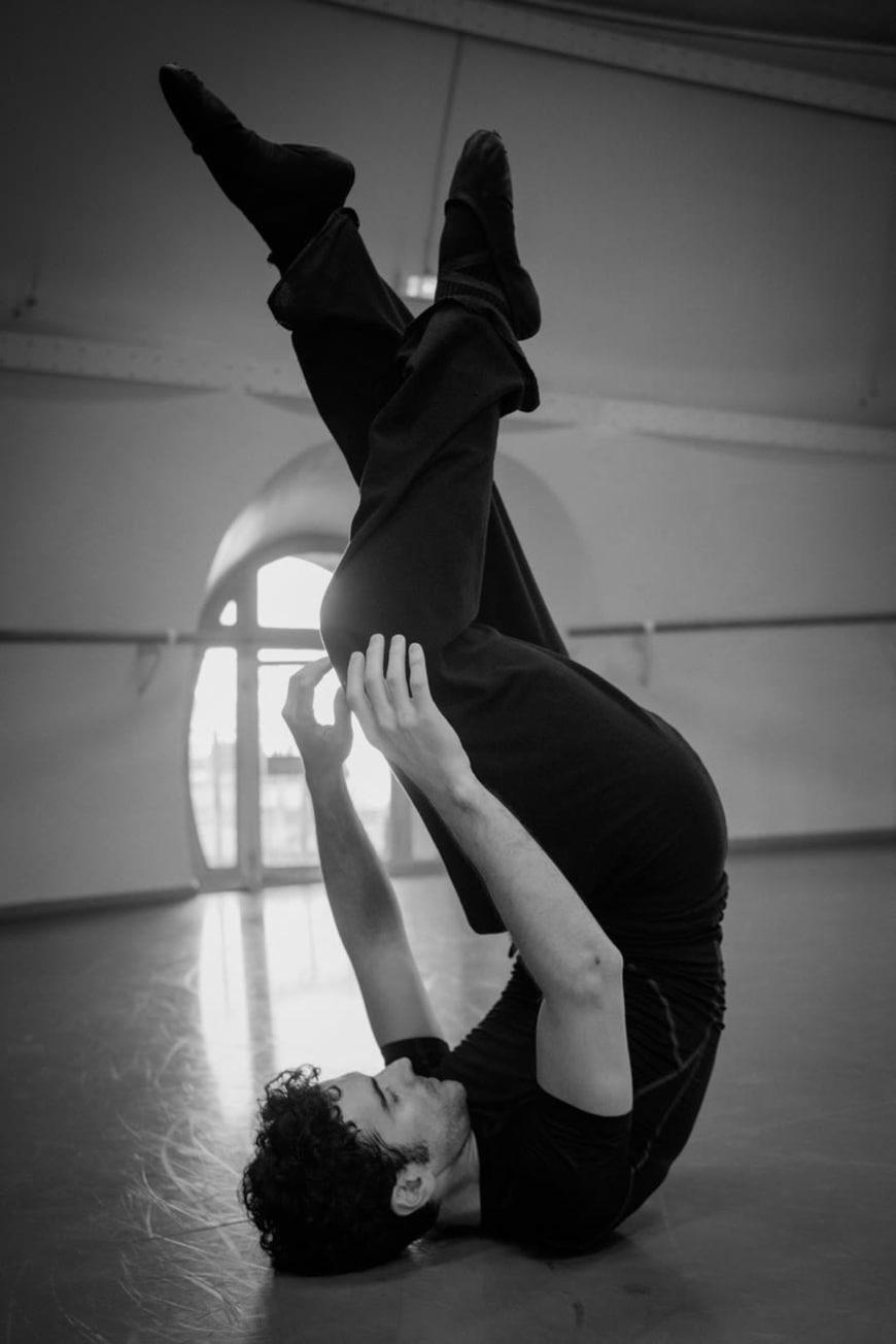 Alessio Carbone lors d'une répétition de « Bella Figura », Palais Garnier, 2016