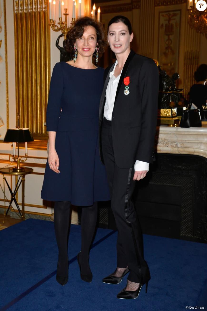 Marie-Agnès Gillot est nommée Chevalier de la Légion d'honneur par Audrey Azoulay,  mars 2017