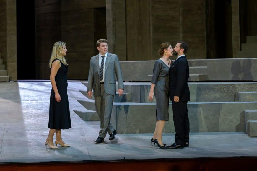Jacquelyn Wagner (Donna Anna), Stanislas de Barbeyrac (Don Ottavio), Nicole Car (Donna Elvira), Etienne Dupuis (Don Giovanni), Palais Garnier, 2019