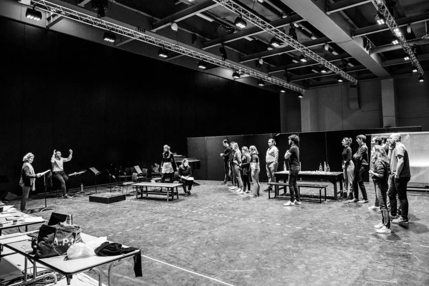 Répétition de La Chauve-souris, février 2019