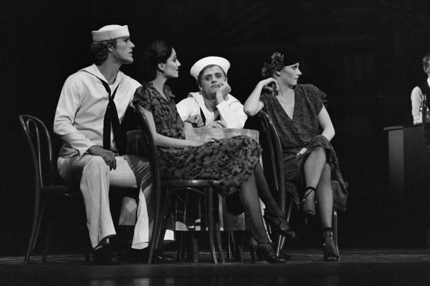 Fancy Free avec Peter Martins et Mikhaïl Barychnikov, Théâtre des Champs-Élysées, Paris, 1979.