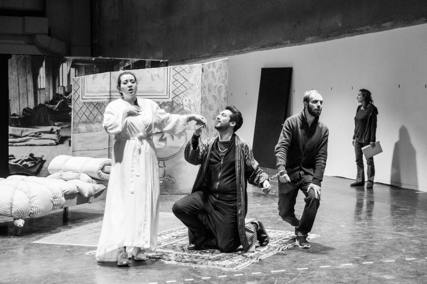 Adriana Gonzalez, Jean-François Marras et Tiago Matos en répétition, février 2019