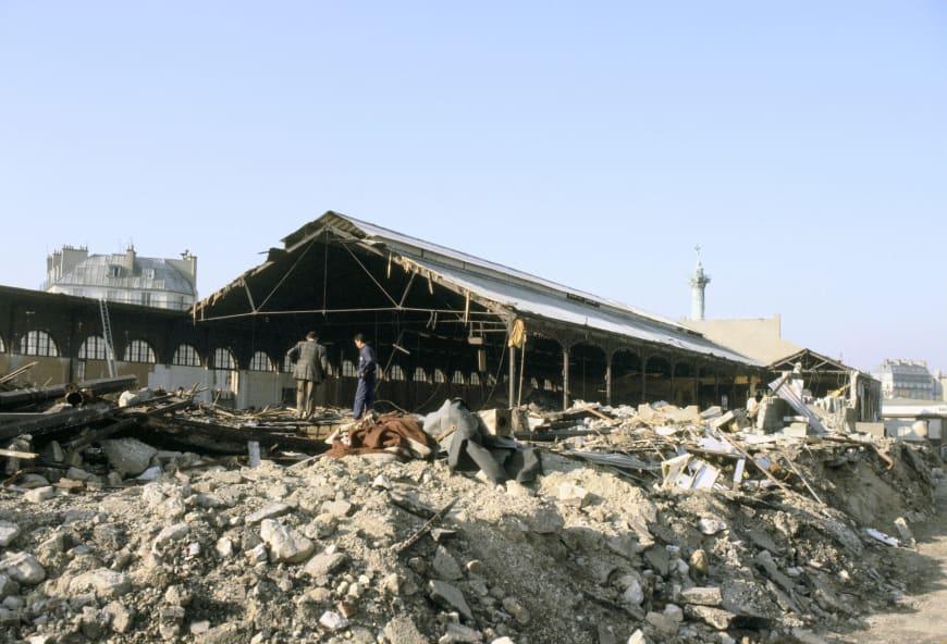 La gare de la Bastille en cours de démolition
