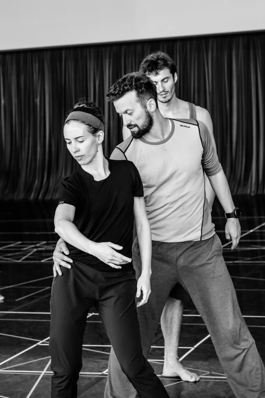 La Première Danseuse Muriel Zusperreguy et le répétiteur Jakub Truszkowski