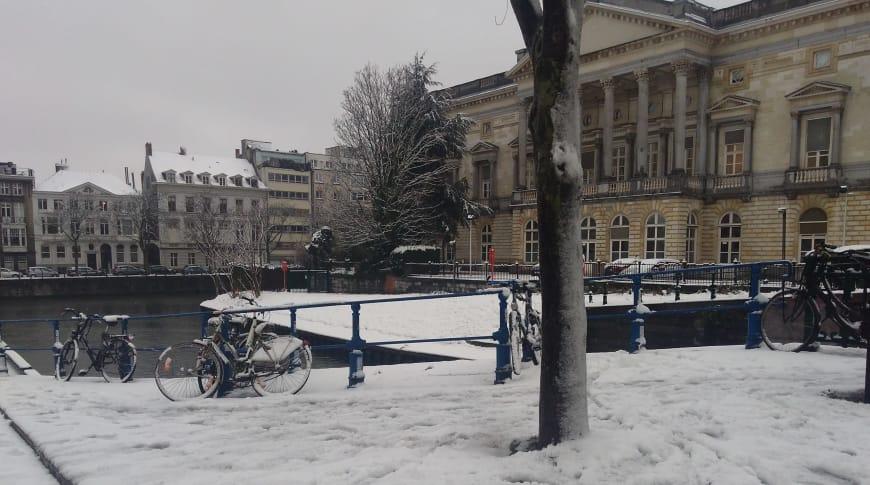 L'Opéra Ballet de Flandre sous la neige