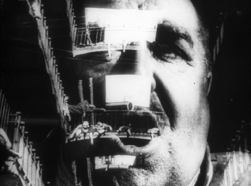 La grève. Film muet russe réalisé par Sergei M Eisenstein, 1925. Collection Christophel