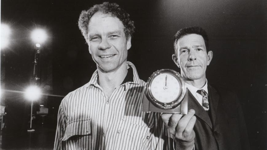 Le chorégraphe Merce Cunningham et le compositeur John Cage en 1965