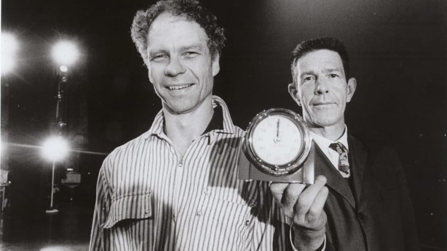 The Choreographer Merce Cunningham and the composer John Cage, in 1965