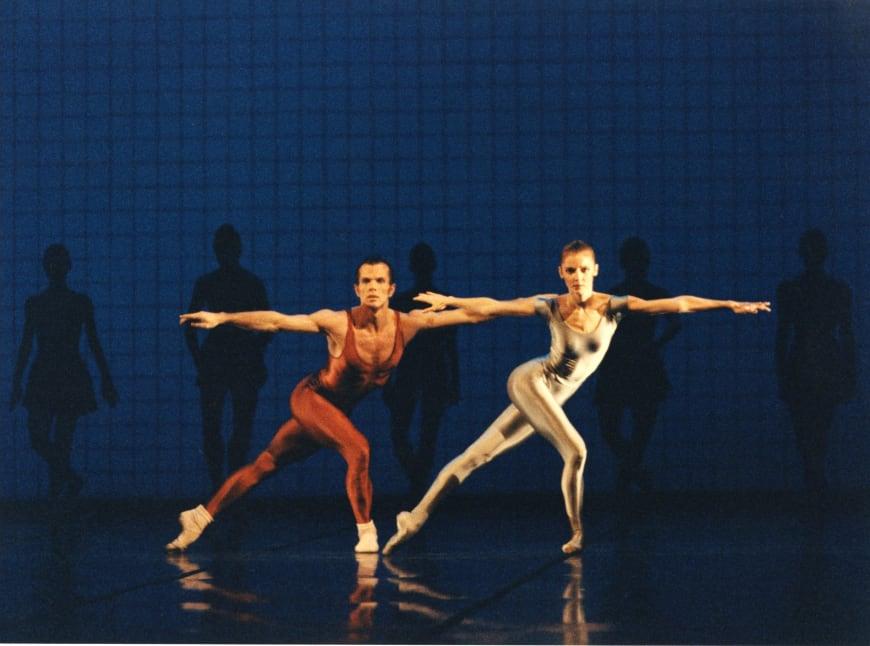 Wilfried Romoli et Agnès Letestu dans Glass Pieces à l'Opéra de Paris