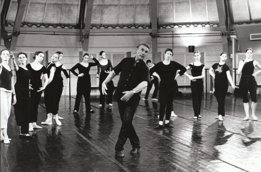 Pierre Lacotte en répétition de La Sylphide