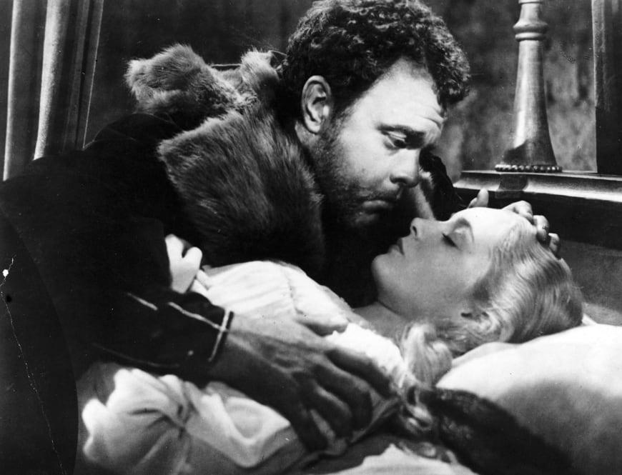 Othello, film d'Orson Welles, 1951, avec Orson Welles (Othello), Suzanne Cloutier (Desdémone)