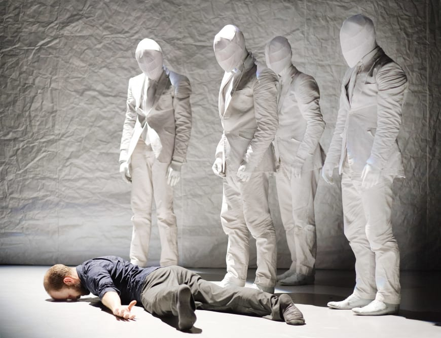 The Tempest Replica, Crystal Pite, avec les danseurs de la compagnie Kidd Pivot, 2011, Artist House Mousonturm, Francfort