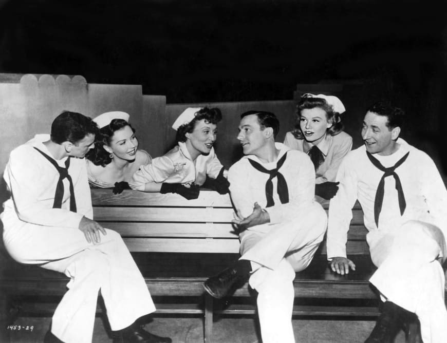 On the town, film de Gene Kelly et Stanley Donen, avec Frank Sinatra, Gene Kelly, Jules Munshin, Betty Garrett, Ann Miller et Vera Ellen, 1944 - Collection Christophel.