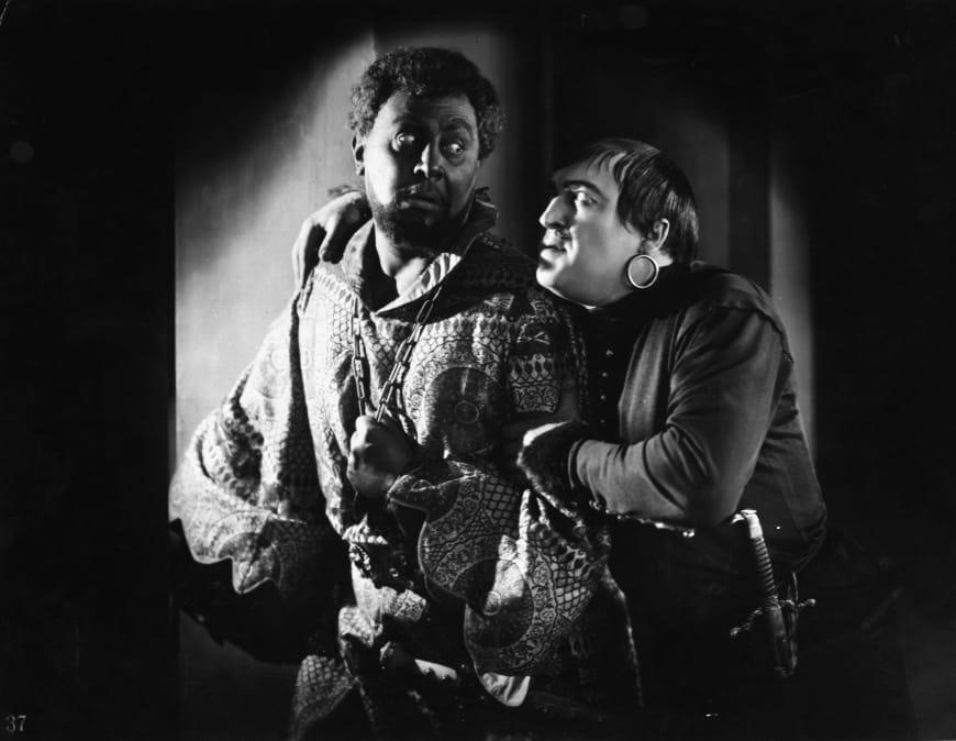 Othello, film allemand muet de Dimitri Buchowetzki, 1922, avec Emil Jannings (Othello) et Werner Krauss (Iago)
