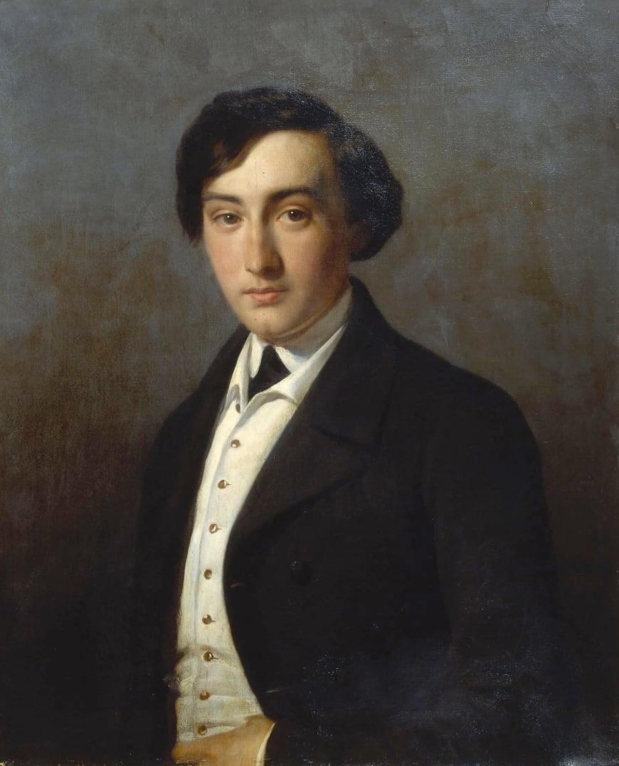 Louise Desnos - Portrait de Lucien Petipa, 1849. Huile sur toile, 73 x 59 cm. BnF, département de la Musique, Bibliothèque-musée de l'Opéra.