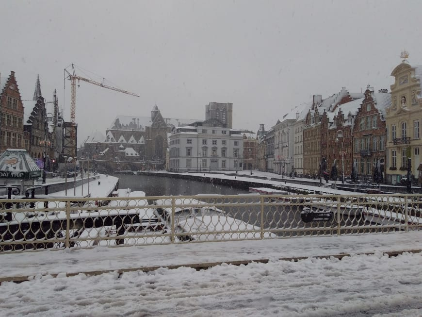 Ghent under the snow
