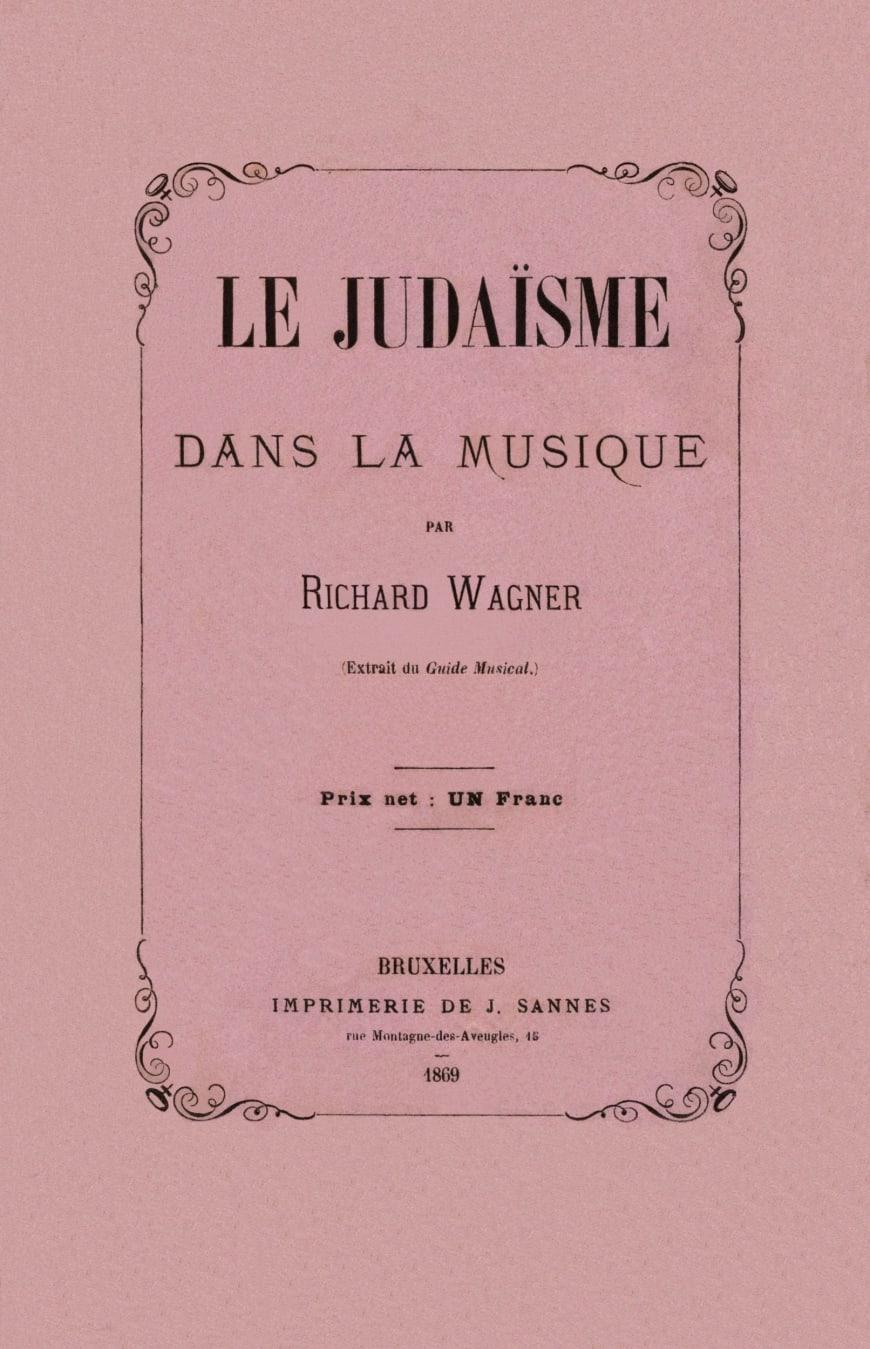Publication de la traduction française de l'essai antisémite