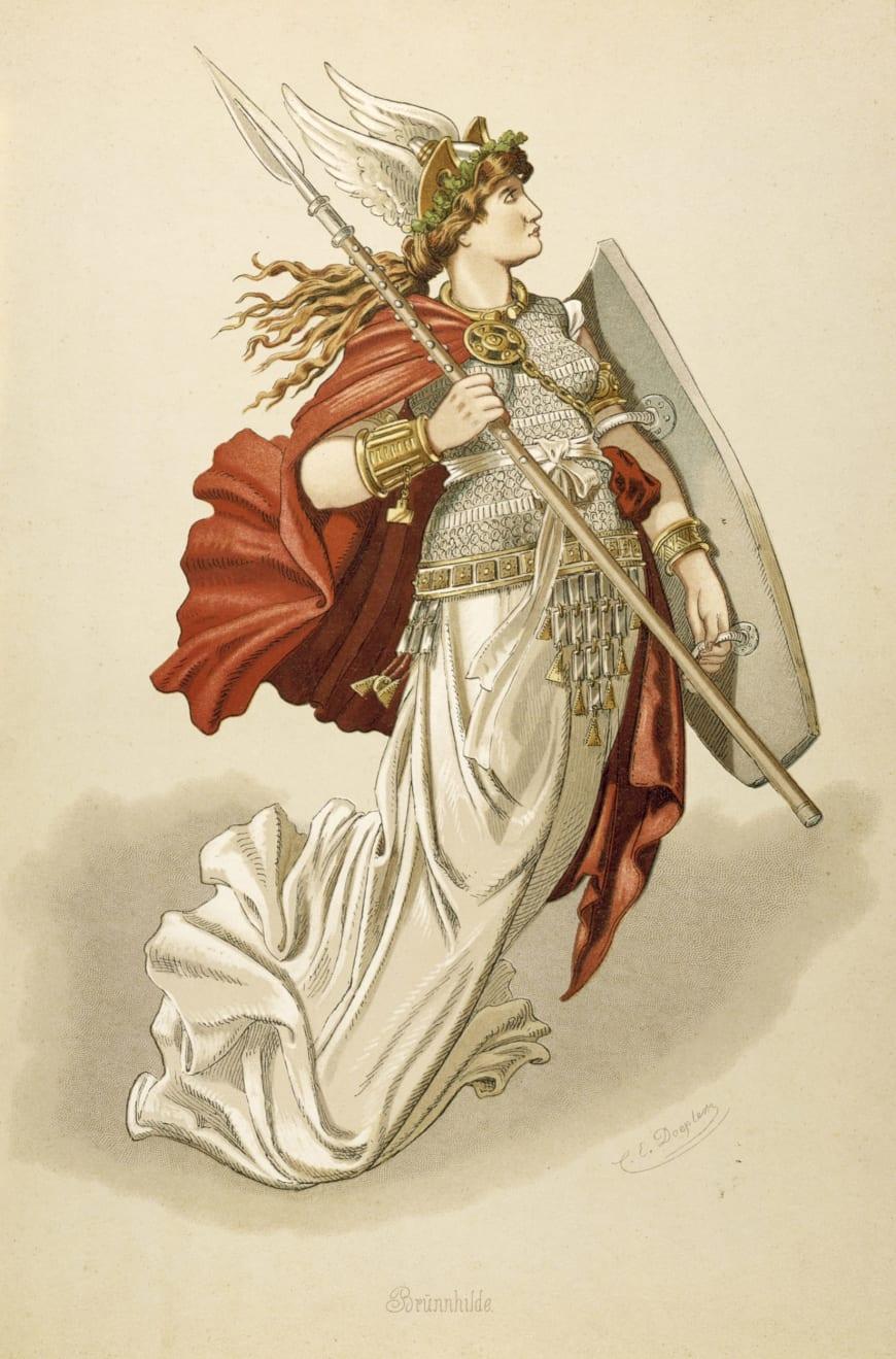 Brünnhilde, maquette de costume d'après Karl Emil Doepler