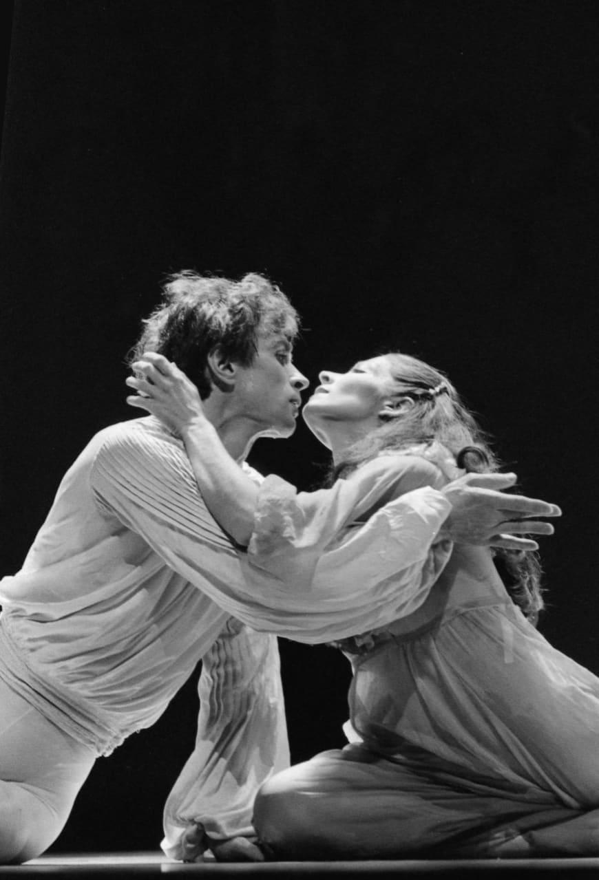 Rudolf Noureev (Le Poète) et Florence Clerc (Astarté, La Sœur), Palais des Sports, décembre 1979