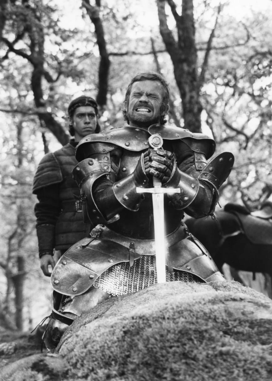 Excalibur, John Boorman, 1981, avec Nigel Terry