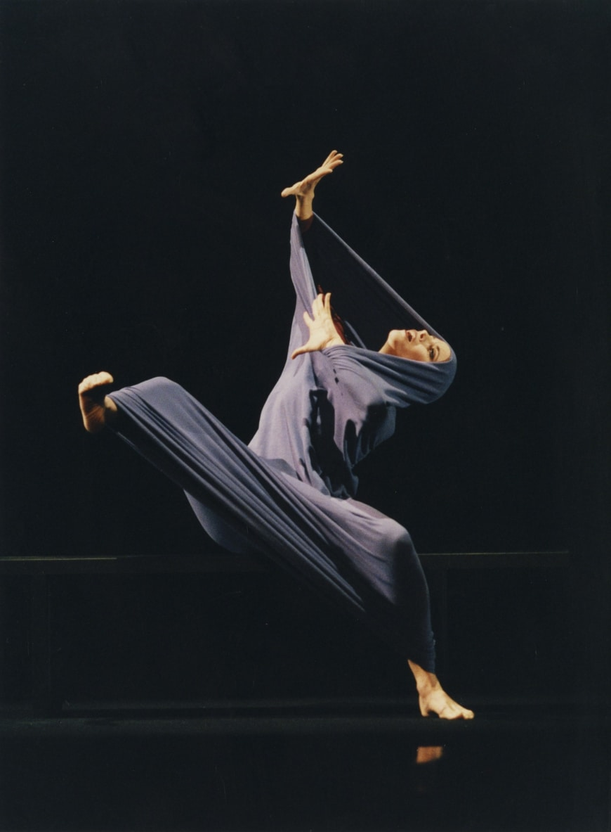 Fanny Gaïda lors de l'entrée au répertoire de Lamentation, novembre 1998
