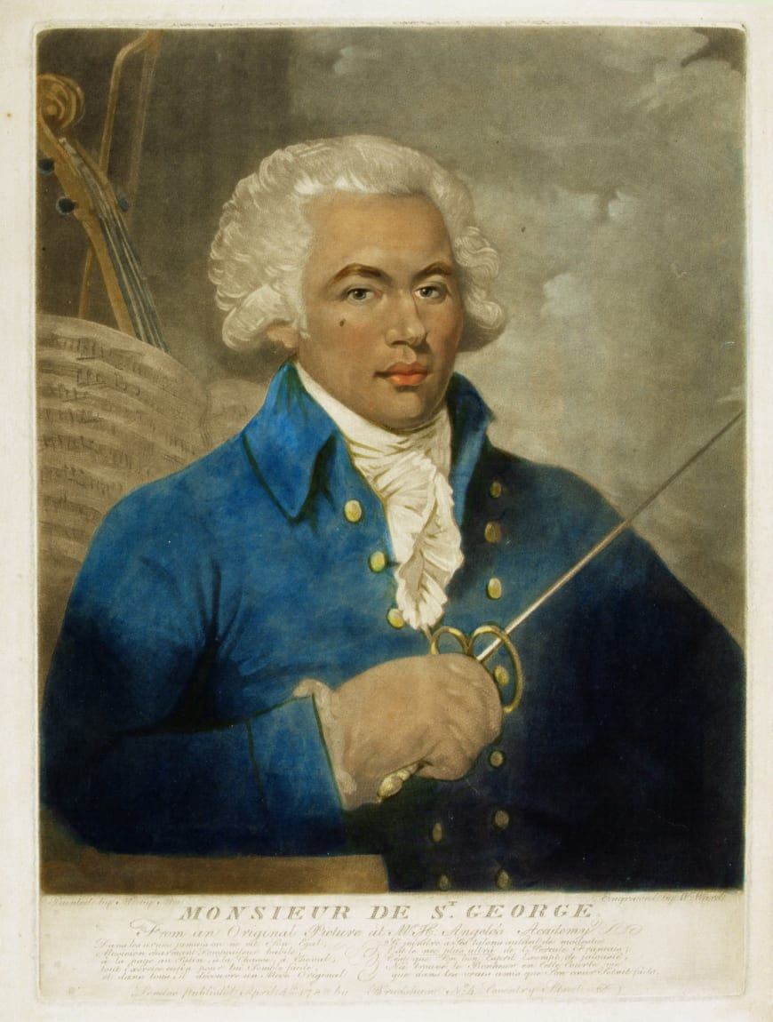 Le Chevalier de Saint-George, portrait de Mather Brown, 1788