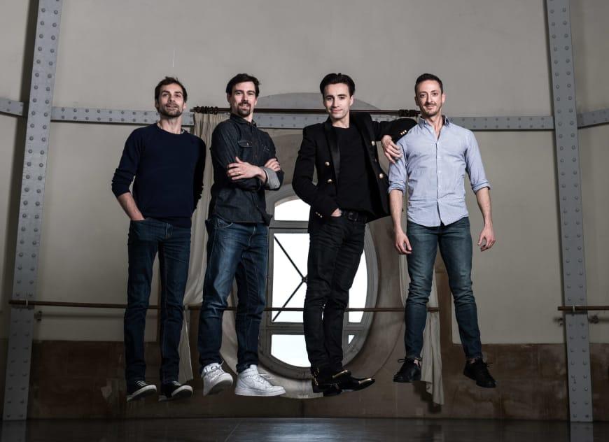 Bouché, Nicolas Paul, Sébastien Bertaud, Simon Valastro à la Rotonde Zambelli, Palais Garnier