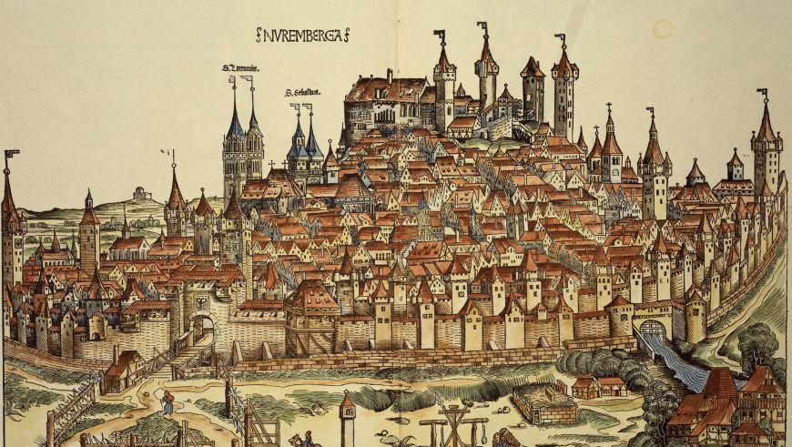 Nuremberg par Hartmann Schedel, 1493