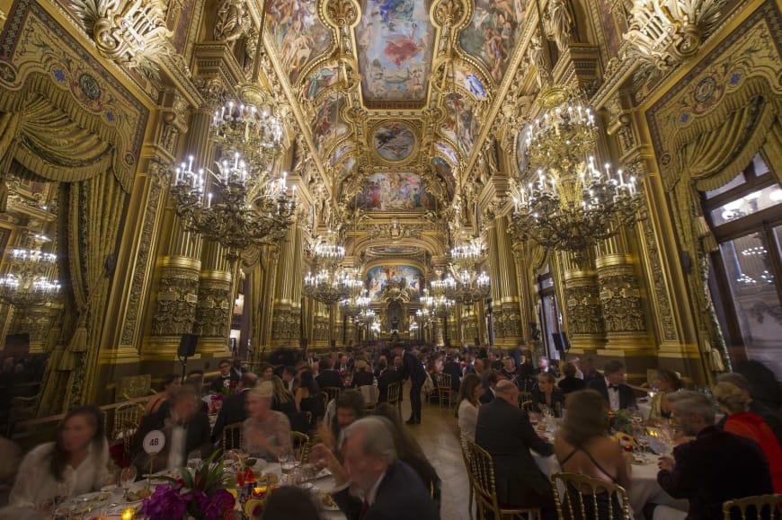 Dîner dans le Grand Foyer du Palais Garnier à l'issue de la représentation