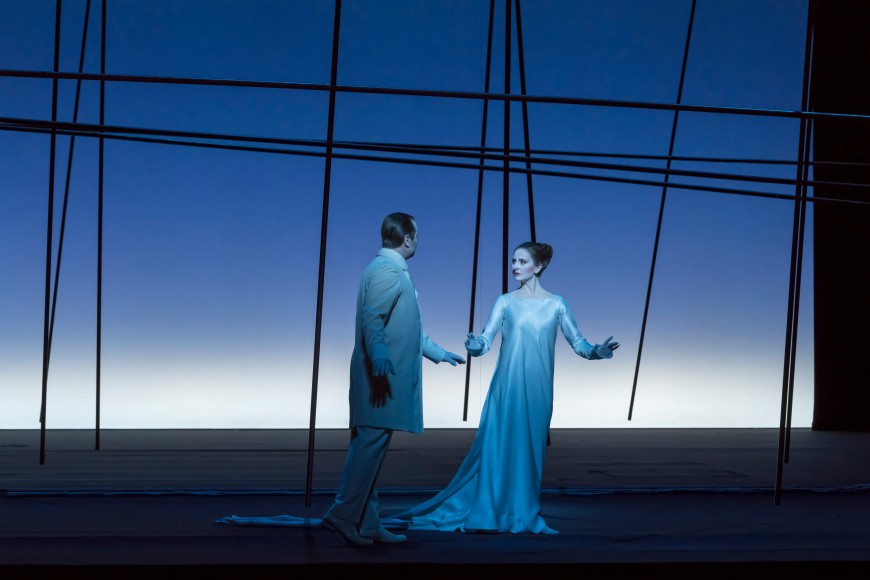 Etienne Dupuis (Pelléas) et Elena Tsallagova (Mélisande), Opéra Bastille, 2017