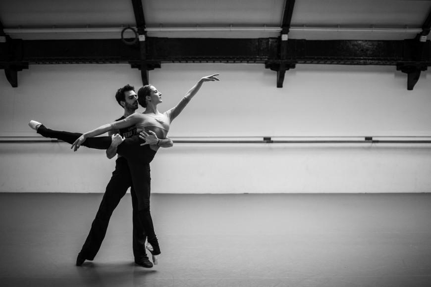Daphnis et Chloé : Valentine Colasante en répétition avec Allister Madin, Opéra de Paris, 2018