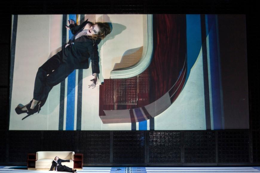 Barbara Hannigan (Elle), La Voix humaine, Palais Garnier, 2015