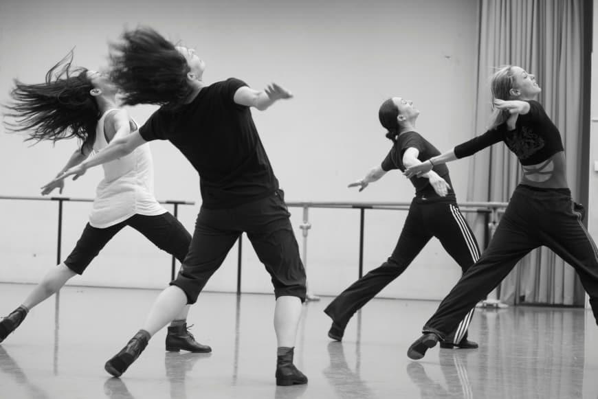Aurélia Bellet, Charlotte Ranson, Sae Eun Park et Juliette Hilaire en répétition, Palais Garnier, 2018