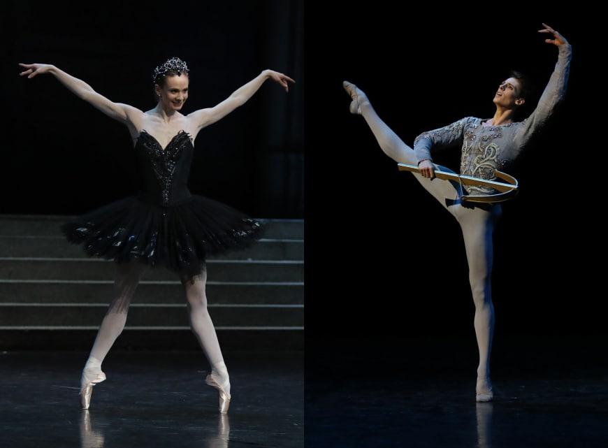 Léonore Baulac (Odile) et Germain Louvet  (le prince Siegfried) dans « Le Lac des cygnes », Opéra Bastille, 2016