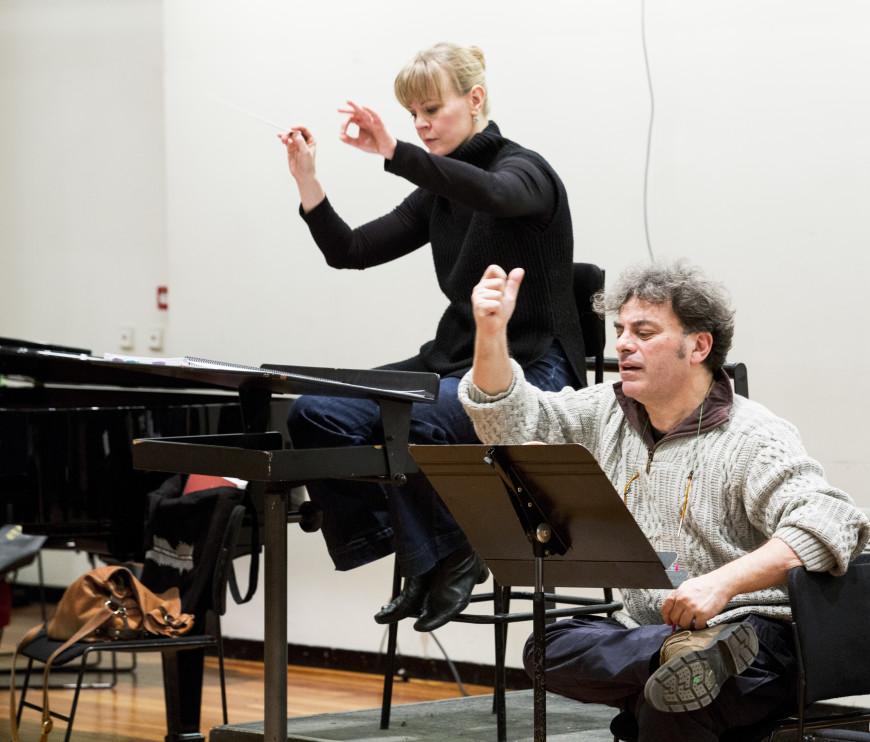 Répétition de Trompe-la-mort avec Susanna Mälkki et Luca Francesconi