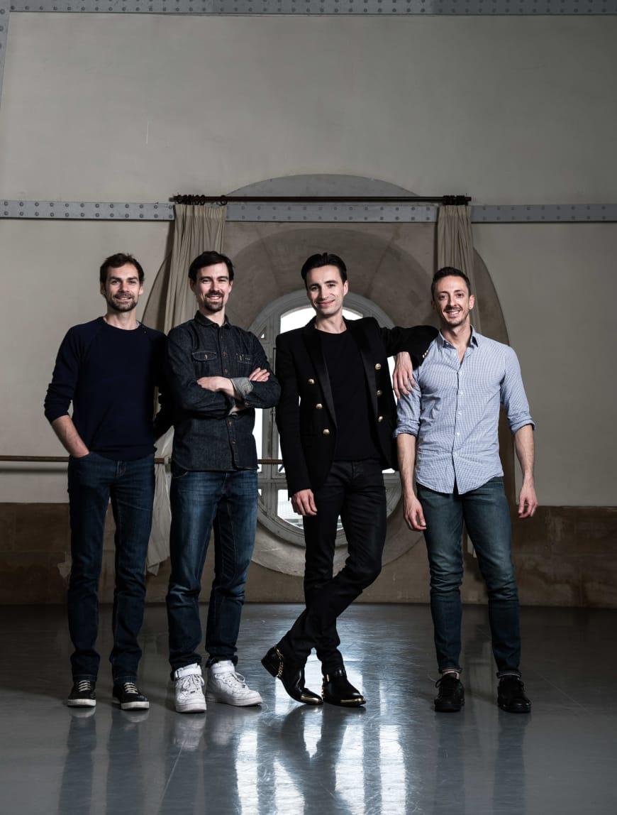 Bruno Bouché, Nicolas Paul, Sébastien Bertaud, Simon Valastro à la Rotonde Zambelli, Palais Garnier