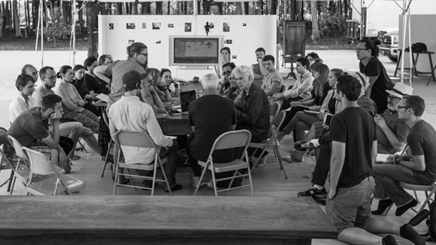 Workshop at the Watermill Center in the presence of director Jim Jarmusch for the Tesla in New York opera project.