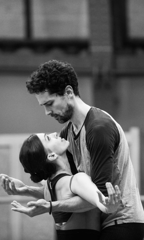 Laura Hecquet (Tatiana) et Stéphane Bullion (Eugène Onéguine) en répétition, Opéra national de Paris, 2018
