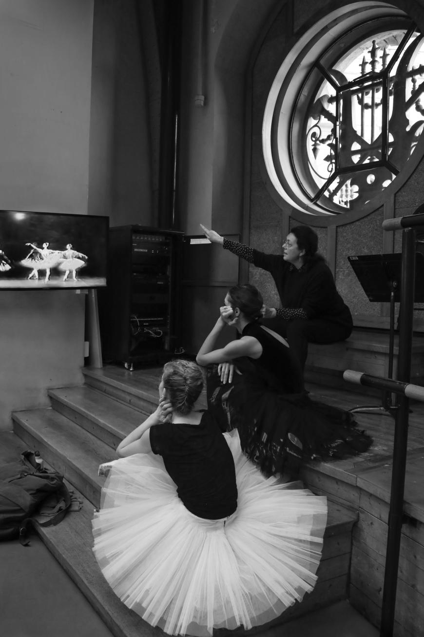 Clotilde Vayer en répétition
